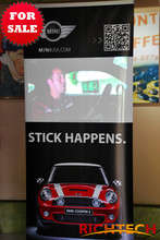advertising banner with aluminum profile for events, super market, exhibition, retail store