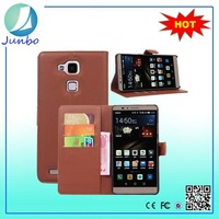 High Quality Leather Flip Wallet Case for Huawei ascend mate 7
