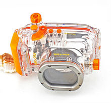 Meikon 40M 130FT Digital Underwater Camera for Canon S95, compatible with a complete accessory system.