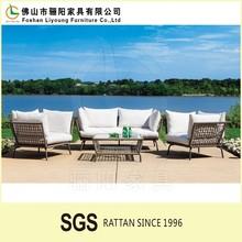 China Direct Wholesale 2015 High Quality Fashion Garden Rattan Sofa With Cushion , Peanut Shape Patio Wicker High Back Sofa