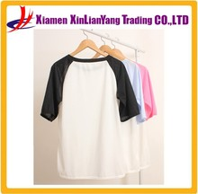 Women No brand T-Shirt Blank Raglan T Shirt Two Tone T-Shirt