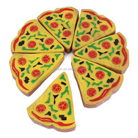 Custom plastic vinyl squeeze pet toy, pizza shape pet toy,OEM plastic vinyl PVC pet toy
