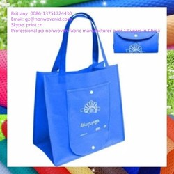 China Factory Non Woven Foldable Bag,Fashion Reusable Folding Bag,OEM Foldable Shopping Bag