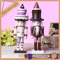 25cm delicate handmade wooden wedding decoration doll, cute wedding doll cake topper
