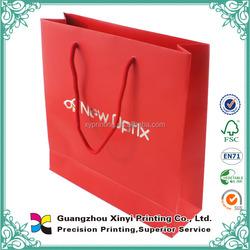 350gsm C2S glossy art paper matt laminated cover plain cheap red art paper bag