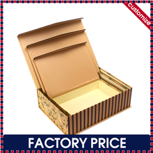 Factory price custom made cardboard paper flip top boxes with magnetic catch for packaging