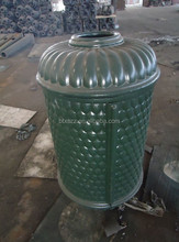 metal outdoor dustbin, cast iron decorative dustbin, standing trash can