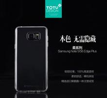 TOTU brand clearly soft TPU slim design case for Samsung S6 edge plus