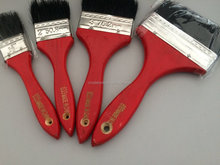 Indonesia hot sale wood handle red colour 663 series nylon paint brush
