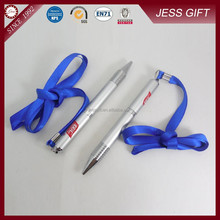 Metal Fluent Pens Customized pen with string