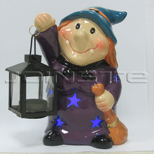 Halloween witches candle lantern