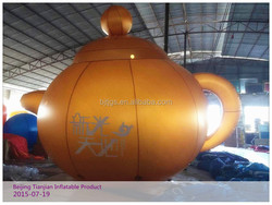 High quality popular inflatable teapot model for decoration