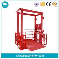 2015 latest hydraulic scissor type cargo lifter