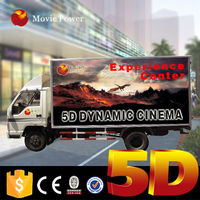 outdoor attractrive theme game machine 5d mobile cinema trailer for big sale