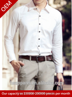 wholesale 2014 trend Mens tailored dress shirt with OEM service