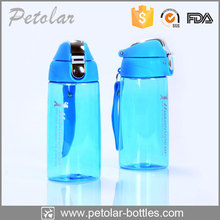 Hot selling blue plastic water bottle with rubber cap seal