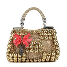 top quality designer bright coloured simple bag in handbags with flower