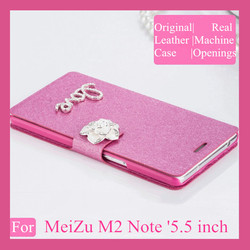 New Arrival Original Real machine PU Leather Flip Case For MeiZu M2 Note Phone Cases With Card slot Free Shipping