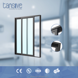 2016 top supplier Tansive construction aluminium office door with glass window