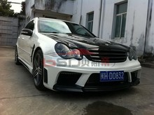 2001-2007 C Class AMG3 Style Fiber Glass Front Bumper with front lip