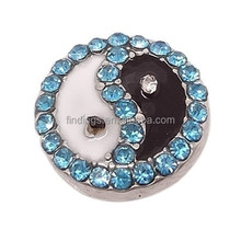 peace symbol diy jewelry snap button for bangles rhinestone fashion button fit all snaps jewelry accessory