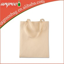 Canvas expandable blank tote shopping bag