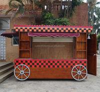 Antique looking mobile coffee shop/ coffee kiosk/ coffee vending cart