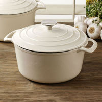 white cast iron enamel cookware