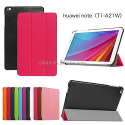 CY Karst Pattern Slim 3- Folding Leather Case Cover Skin For HuaWei Mediapad T1 9.6""