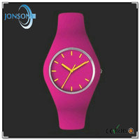 Colorful women men unisex size ce rohs passed promotional silicone band watch