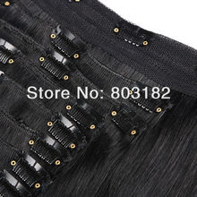 Hot sale high quality straight human hair 200gram clip in hair extension