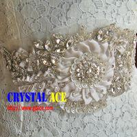 Handmake sash belt crystal rhinestone applique patch,applique patch for decoration