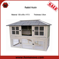 China Wholesale Low Price Detachable 125x68x117.5 Cheap Wooden Rabbit Hutches