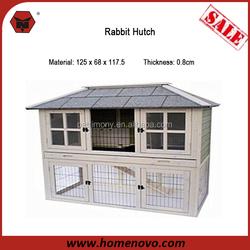 China Wholesale Low Price Detachable 125x68x117.5 Cheap Wooden Rabbit Hutches