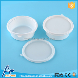 Charming quality white eco friendly plastic compartment tray with lid