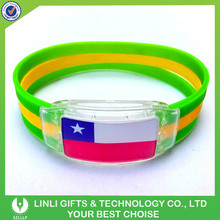 Promotional Custom Gifts LED Flashing Very Cheap Wholesale Bracelet For Party