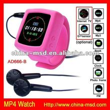 Oline selling free accessories Gift MP4 Wrist Watch with storage 2GB card
