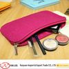 China hot selling of portable and fashionable felt cosmetic bag