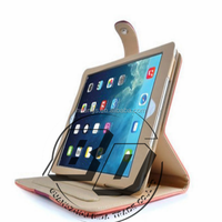 Hot selling now suede leather 360 degree rotating smart cover leather case With Auto Sleep/Wake For Apple iPad air 2 iPad 6