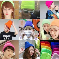 2015 New Women Unisex Winter Warm Knitted Beanie Hat Warmer Hip hop Ski Caps and Hats