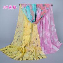 Top New Design Popular Plumage Women Silk Scarf Fashion Scarves Shawl 160*50 Pashimina