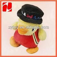 2014 fashionable walking singing 20cm mini plush duck toys
