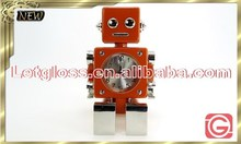 Specialized zinc alloy Robot shaped Alarm table design Clock