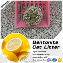 High Adsorption Dust Free Bentonite Pet Litter Lemon