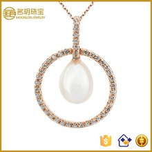 Wholesale jewelry settings and mountings sterling silver freshwater pearl pendant on promotion