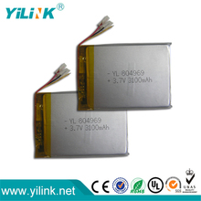 7 inch android tablet replace battery 804969 3.7V 3100mAh lipo battery