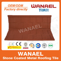 Wanael noisy resistance stone coated metal roof shingles/red asphalt roof shingles/design dome roof