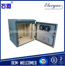 Metal enclosure box with fans