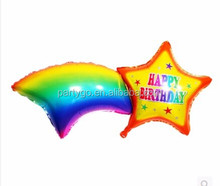2015 new arrived Rainbow Star Foil decoration Balloons