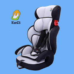 Polyester and HDPE 1+2+3 child car seat for 9-36kgs